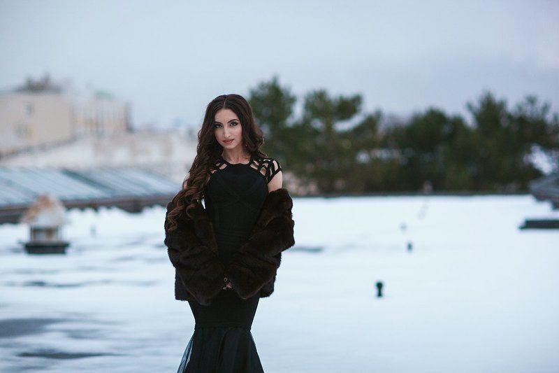 новогодняя фотосессия, девушка, красиво, платья, студия, зима, макияж, прическа, фотограф, симферополь Новогодняя красотаphoto preview