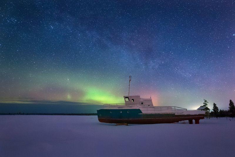 северное сияние, звезды,мороз Сияниеphoto preview