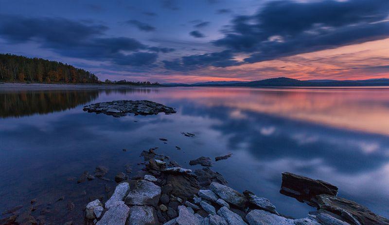 озеро, осень, закат ***photo preview