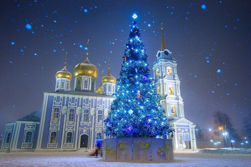 Архитектура, Город, Зима, Кремль, Россия, Тула Новогодняя Тулаphoto preview