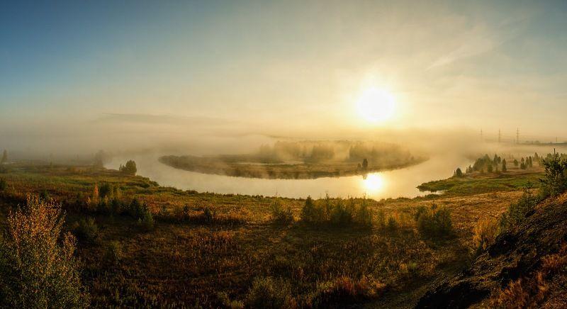чусовая, рассвет, панорама, пейзаж, средний урал Про рассветphoto preview