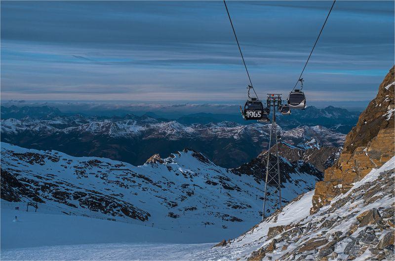горы, альпы, подъёмник, капрун, австрия, mountains, alps, kaprun, austria [отправление]photo preview