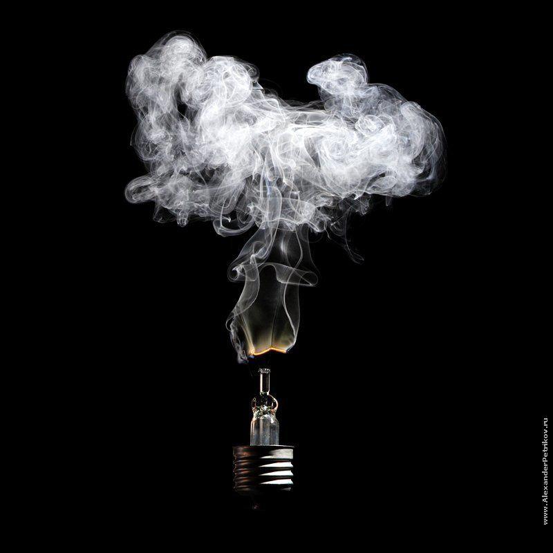 лампочки, дым, 100, ватт, цоколь из серии \