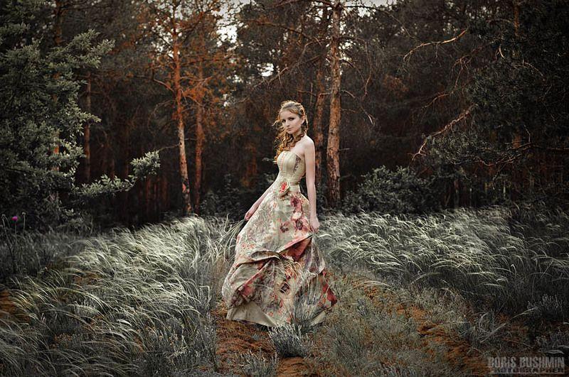 девушка, модель, лес, гламур, портрет, борис бушмин ...из серииphoto preview