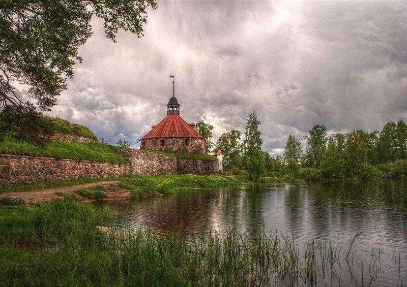 пейзаж Дождь над крепостью.photo preview