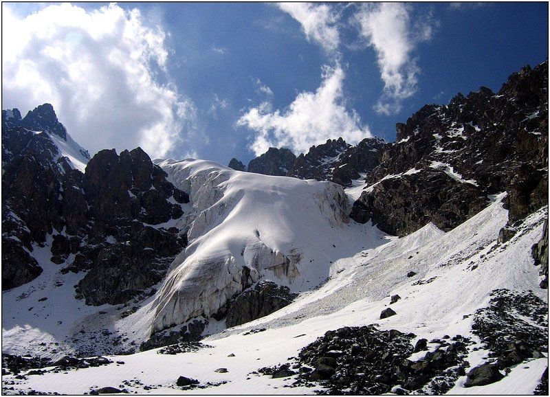 тянь-шань, ледник, перевал, лавина Классика...photo preview