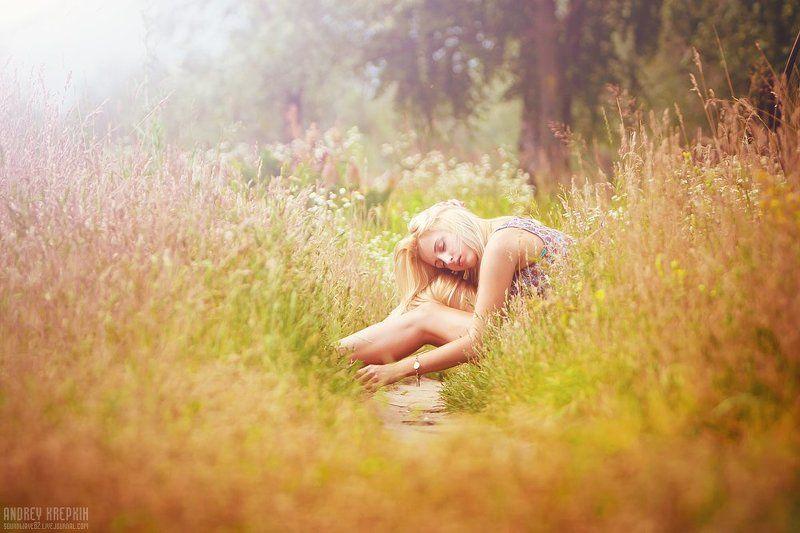 настя, девушка, поле, цветы ***photo preview
