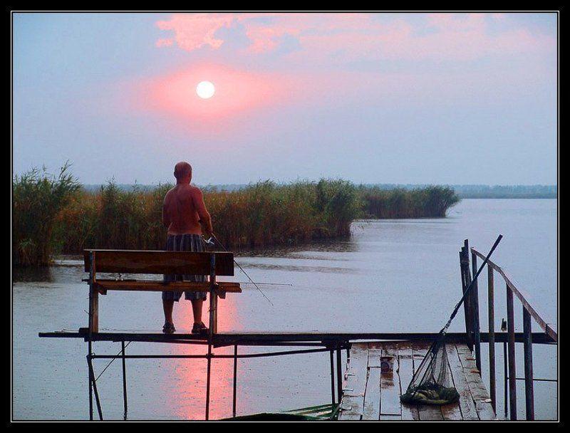 азовское море, сладкий лиман, краснодарский край, осень, вечер, рыбалка Вечер. Сладкий лиманphoto preview
