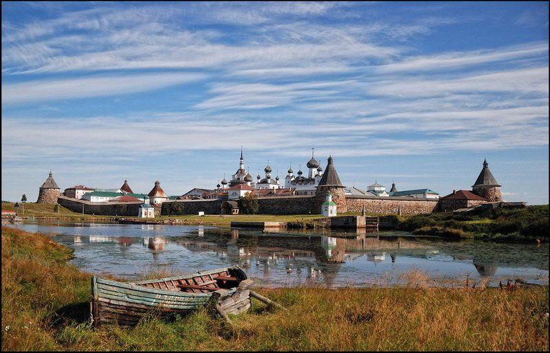 соловецкий, монастырь Классический вид на Соловецкий монастырьphoto preview