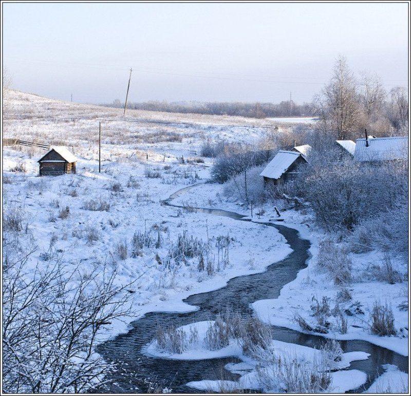 ферапонтово, русский_север, зима О бегущем вдаль ручьеphoto preview
