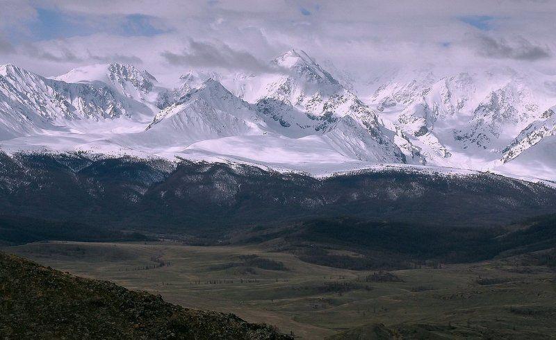 горный алтай ,северо-чуйский хребет,горы,весна.олег кулаков ^^^Северо-Чуйский хребет.photo preview