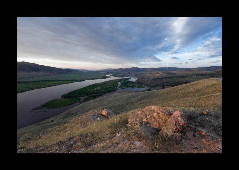 селенга, река, горы ***photo preview