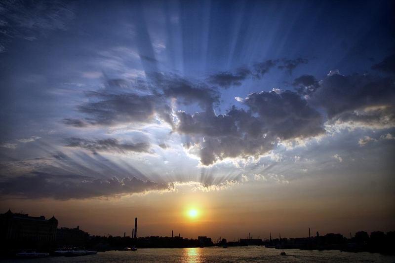 закат Один из закатов над Невой...photo preview