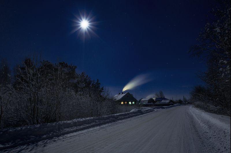 ночь, мороз, дубак рождественскаяphoto preview