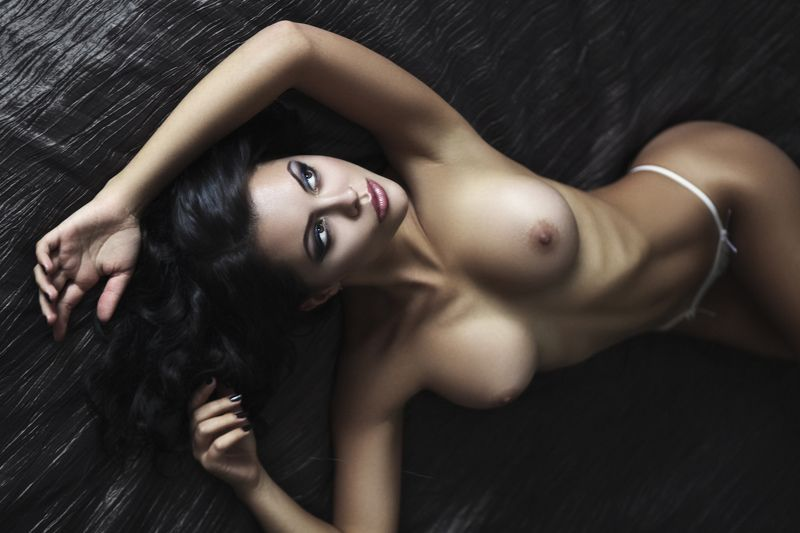 model, brunette, beatiful, girl, studio, nude. ...photo preview