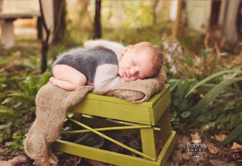 природа, outdoors, малыш, новорожденный,осень,спит Даня, 10 днейphoto preview