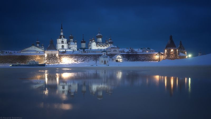 соловки, север, монастырь, фототур Январское зеркалоphoto preview