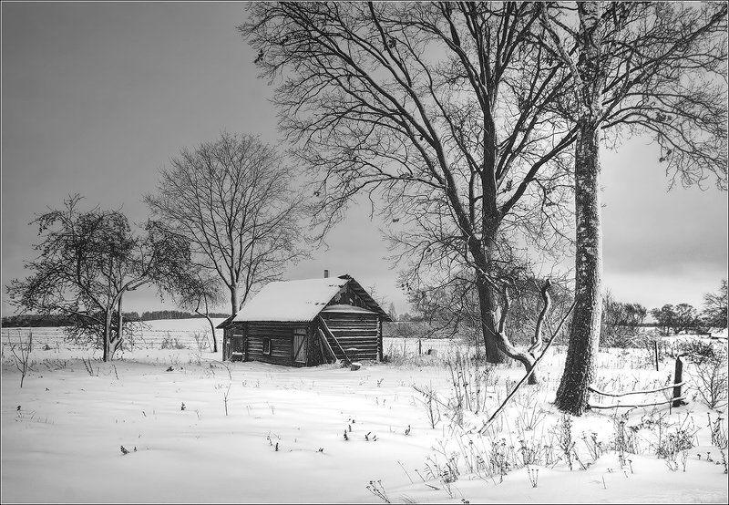 деревня, беларусь, зима ***photo preview