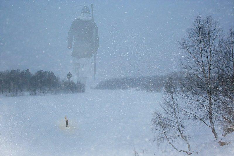 зима Зимние встречи...photo preview