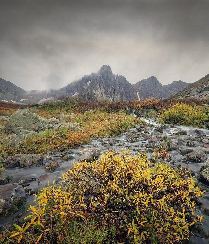 пейзаж, горы, Хакасия, ручей, сентябрь, Кузнецкий Алатау, Золотая долина Прикосновение..photo preview