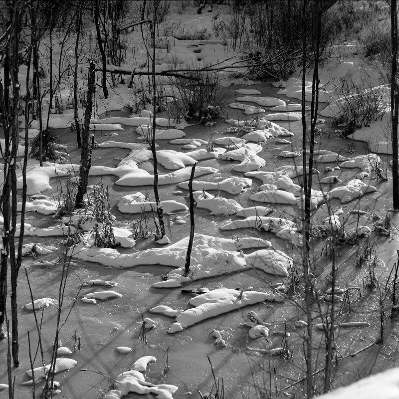 Зима., Пейзаж., Речка. Речка \