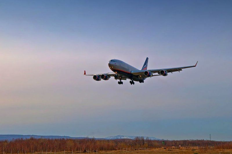 лайнер, самолет, Аэрофлот, Камчатка На посадкуphoto preview