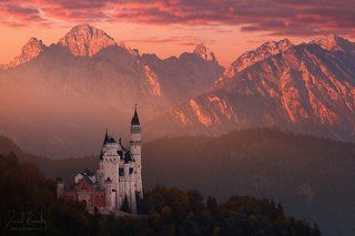 Red morning above the castle