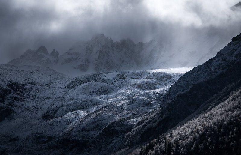 горы, ледник, архыз, кчр, софийская долина, кавказ Путь к светуphoto preview