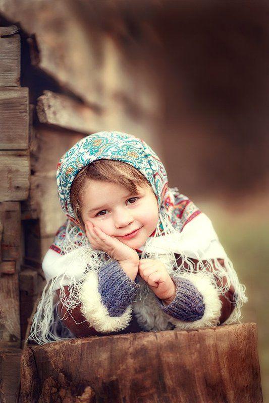 дети семья портрет девочка Агафьяphoto preview