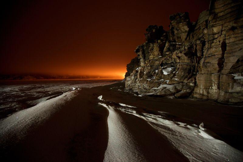 баян-аул., казахстан., жасыбай. Ночной Жасыбай.photo preview
