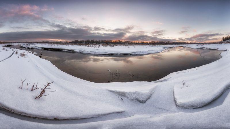 закат, зима, река, ахтуба, затон Закатнаяphoto preview