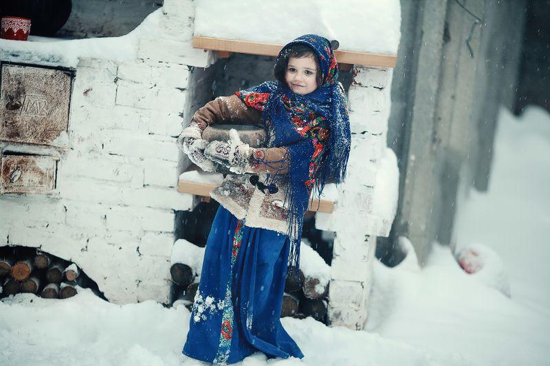 зима, снег русская зимаphoto preview