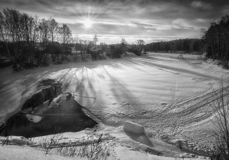 утро, река, солнце, зима, мороз, снег, иваново Утро на реке Талкаphoto preview