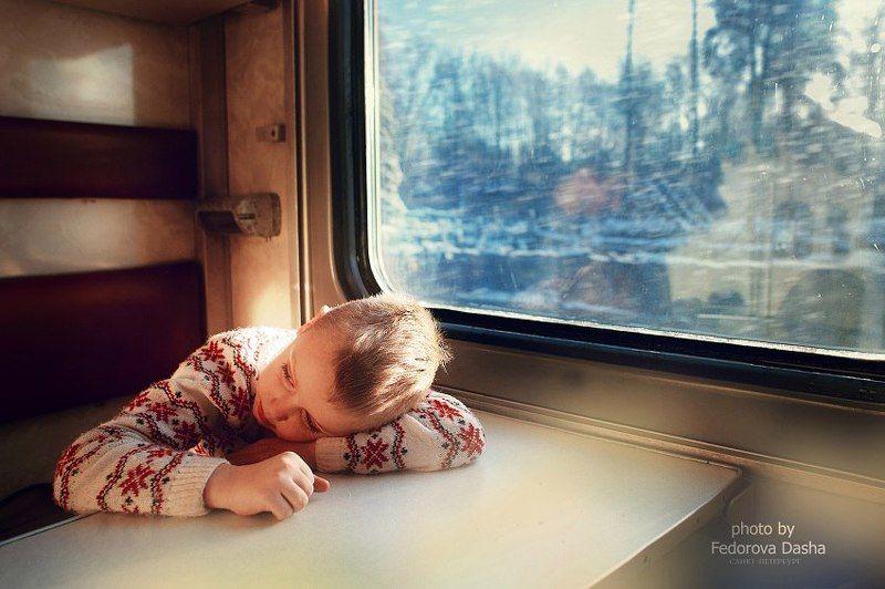 поезд, ребенок, дорога, вагон,зима Дорога домойphoto preview