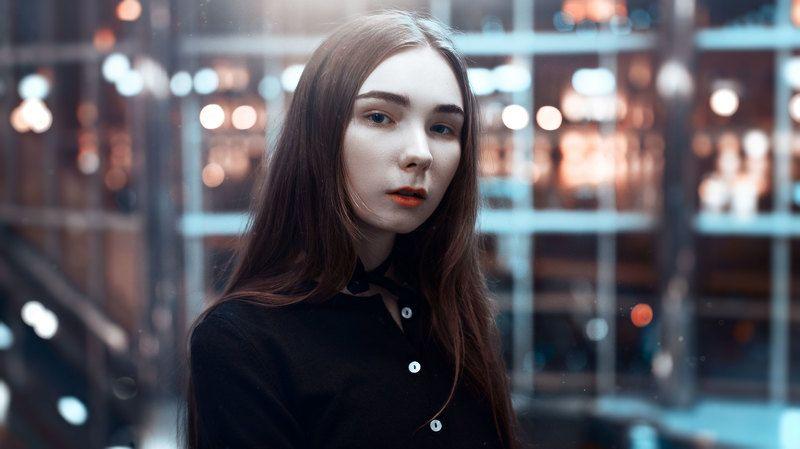 портрет, цвет, синий, ретушь, nikon, sigma, 35mm, art, вечер, вечерний портрет Случайностьphoto preview
