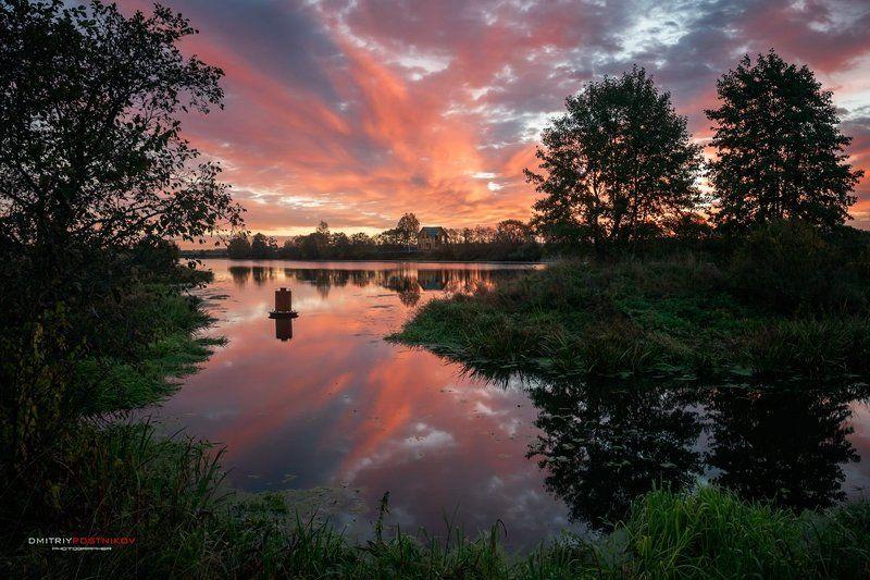 пейзаж,природа,рассвет,утро,река дубна,лето, На рассвете.photo preview