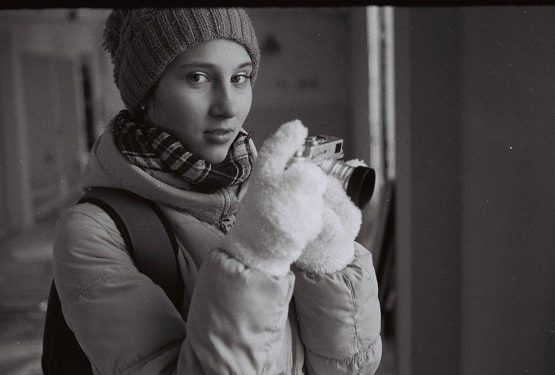 Зоркий-4, девушка, пленка, портрет Зоркий-4photo preview