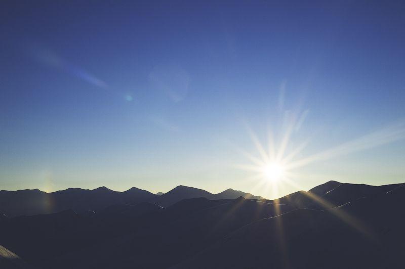 Чукотка, пейзаж, Север, Арктика, зима Солнечное Утроphoto preview