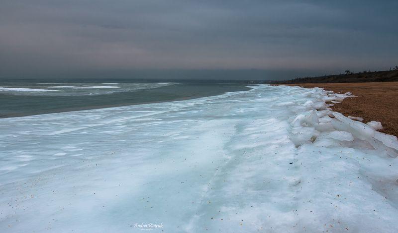 море, пейзаж, лед, природа, ландшафт, мороз, зима, крым, свет, облака, вода, фото, Азовское море во льдахphoto preview