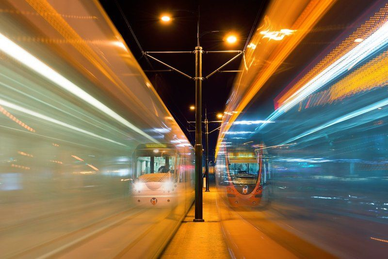 стамбул, ночь, трамвай, турция, Istanbul, night tram, Turkey, Вечное движениеphoto preview