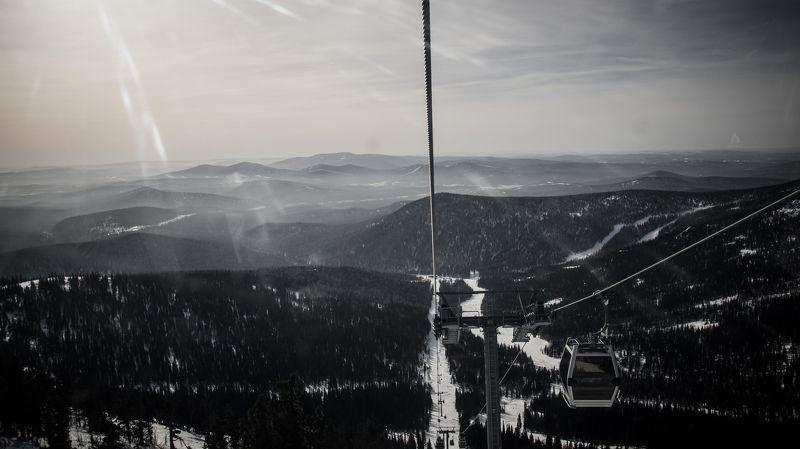 шерегеш, горы, солнце, холмы, вершины, россия, свет Шерегешphoto preview