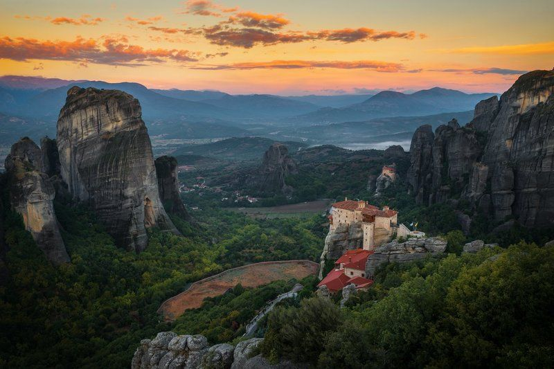 метеоры, греция, осень, утро , Meteora, Greece, fall, morning Autumn morningphoto preview