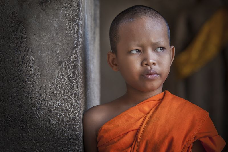 A young monk, Angkor Wat, Cambodia A young monk from Angkor Watphoto preview