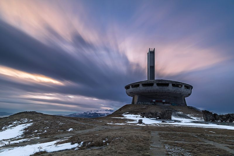 architecture, balkan, beautiful, bulgaria, buzludzha, cloud, communism, construction, history, kazanlak, landscape, long exposure, memorial, monument, mountain, nature, outdoor, park, past, peak, ruin, sculpture, sky, snow, sumset, symbol, travel, view, w Buzludzhaphoto preview