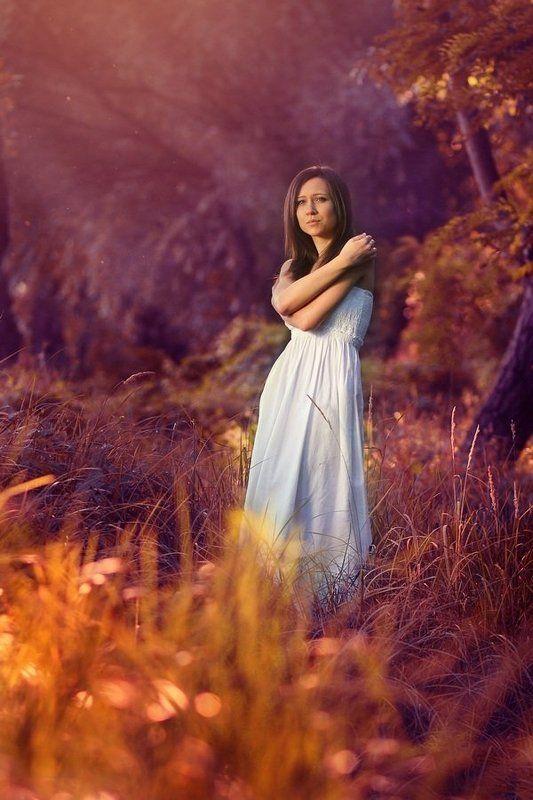 девушка,лес, портрет, солнце,свет photo preview
