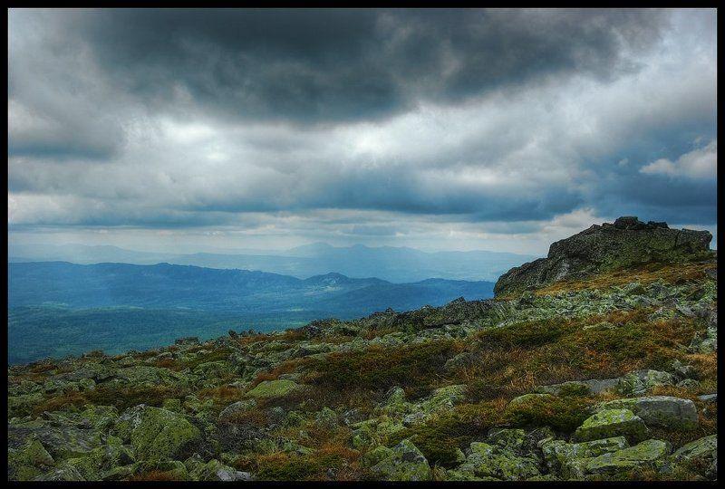 урал, тучи, камни, горы, иремель Седой Уралphoto preview
