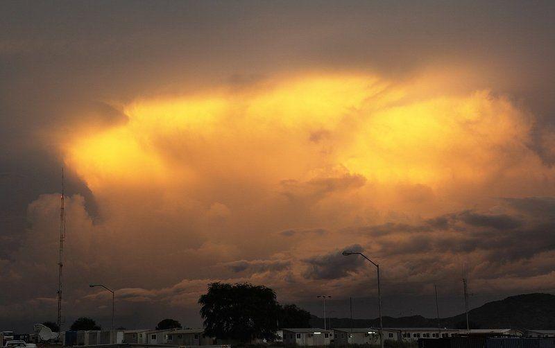 небо, вечер, закат, облака Армагеддонphoto preview