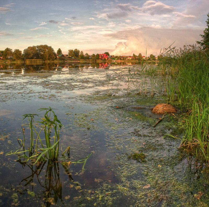озеро, вечер, пейзаж наслаждаясь тишинойphoto preview