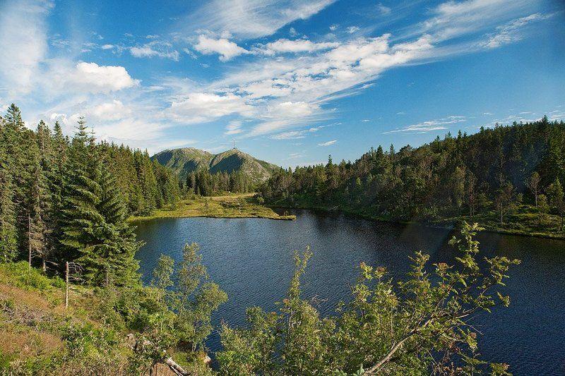 норвегия, берген, пейзаж, горы Берген за горамиphoto preview