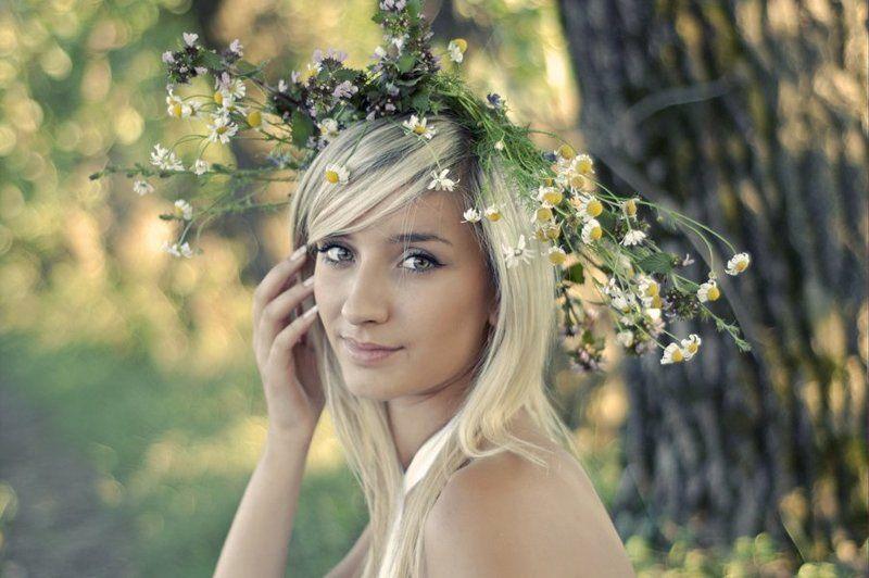 девушка, лето, цветы photo preview